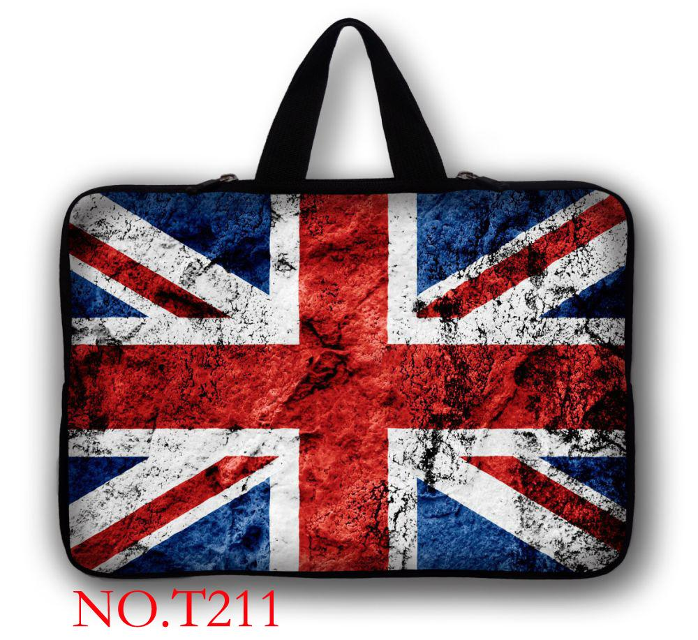 Union Jack Laptop Ultrabook Kol Çantası Çanta Kapak 9.7 Için 10 11.6 12 13 13.3 14 15 15.6 17 17.3 inç MacBook HP Dell Acer Lenovo