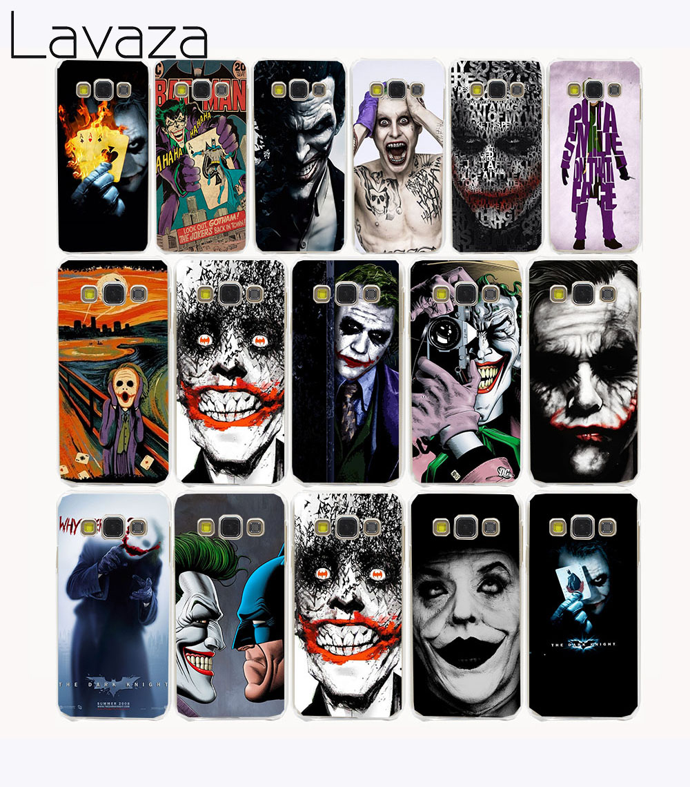 Lavaza 2723CA poker joker Hard Case samsung Galaxy A3 A5 2017 A7 A8 Artı 2018 Grand Başbakan 2 Not 8