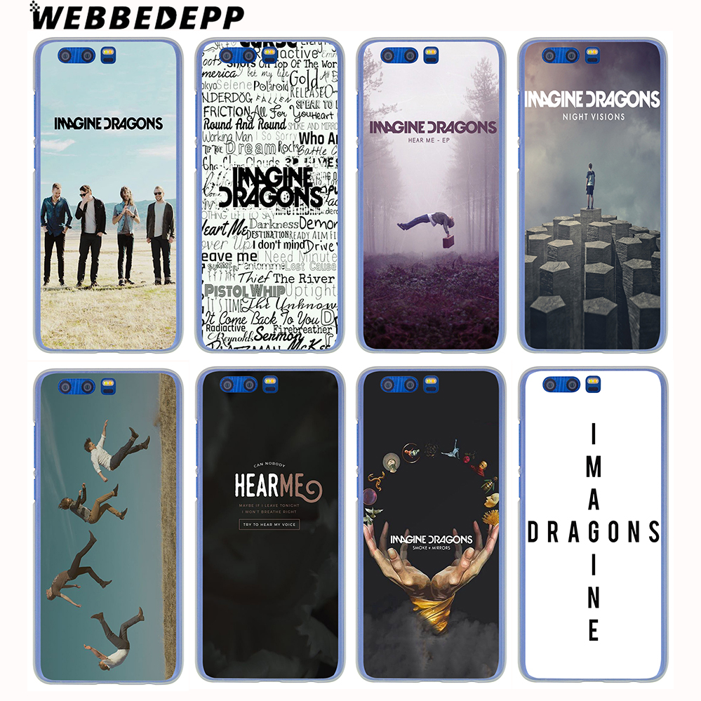 WEBBEDEPP Imagine dragons gece müzik Hard case Huawei Honor 9 8 Lite 7X 6A 6C Y3 Y5 Y6 II Y7 2017